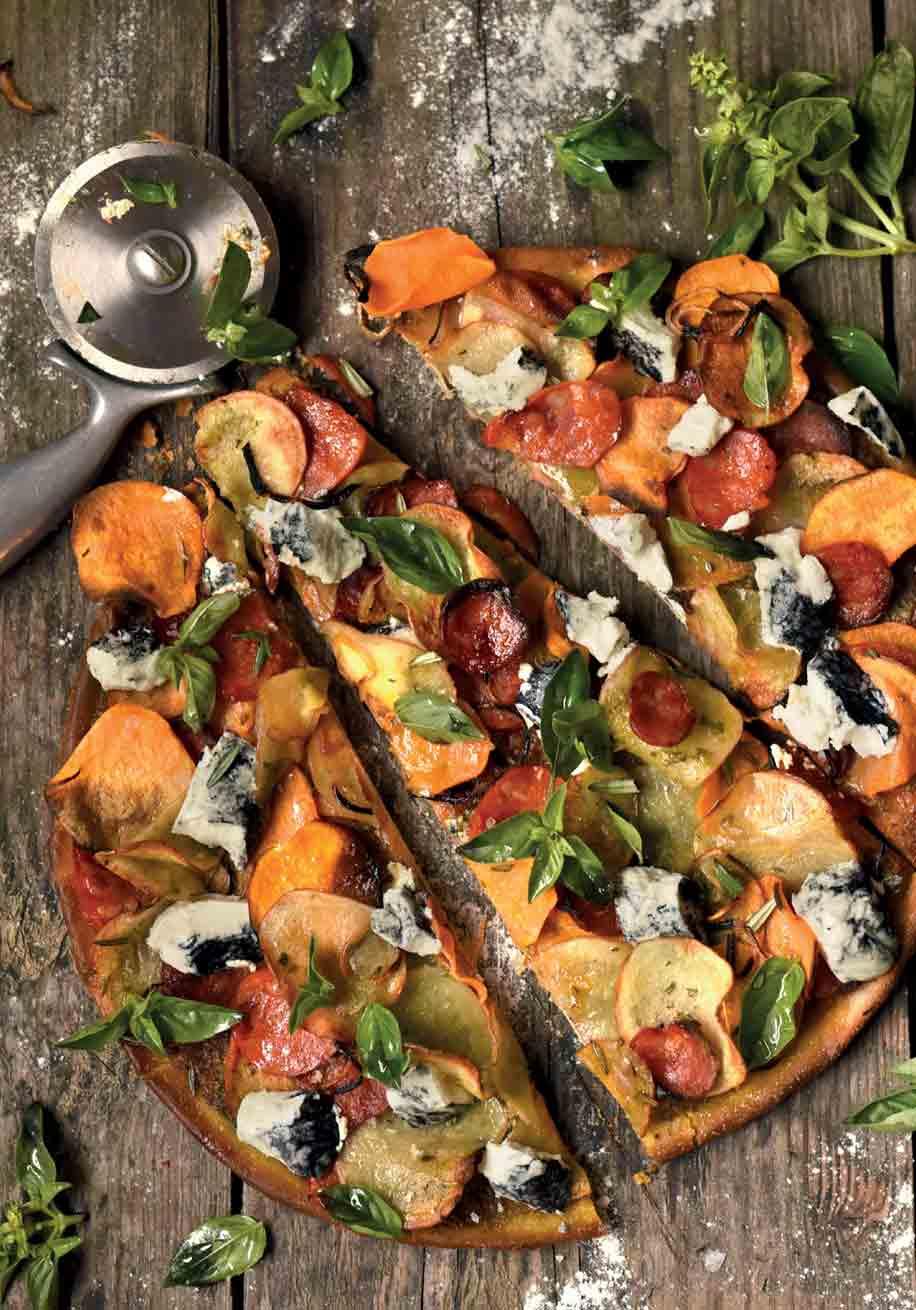 Photo of Two Potato and Chorizo Pizza
