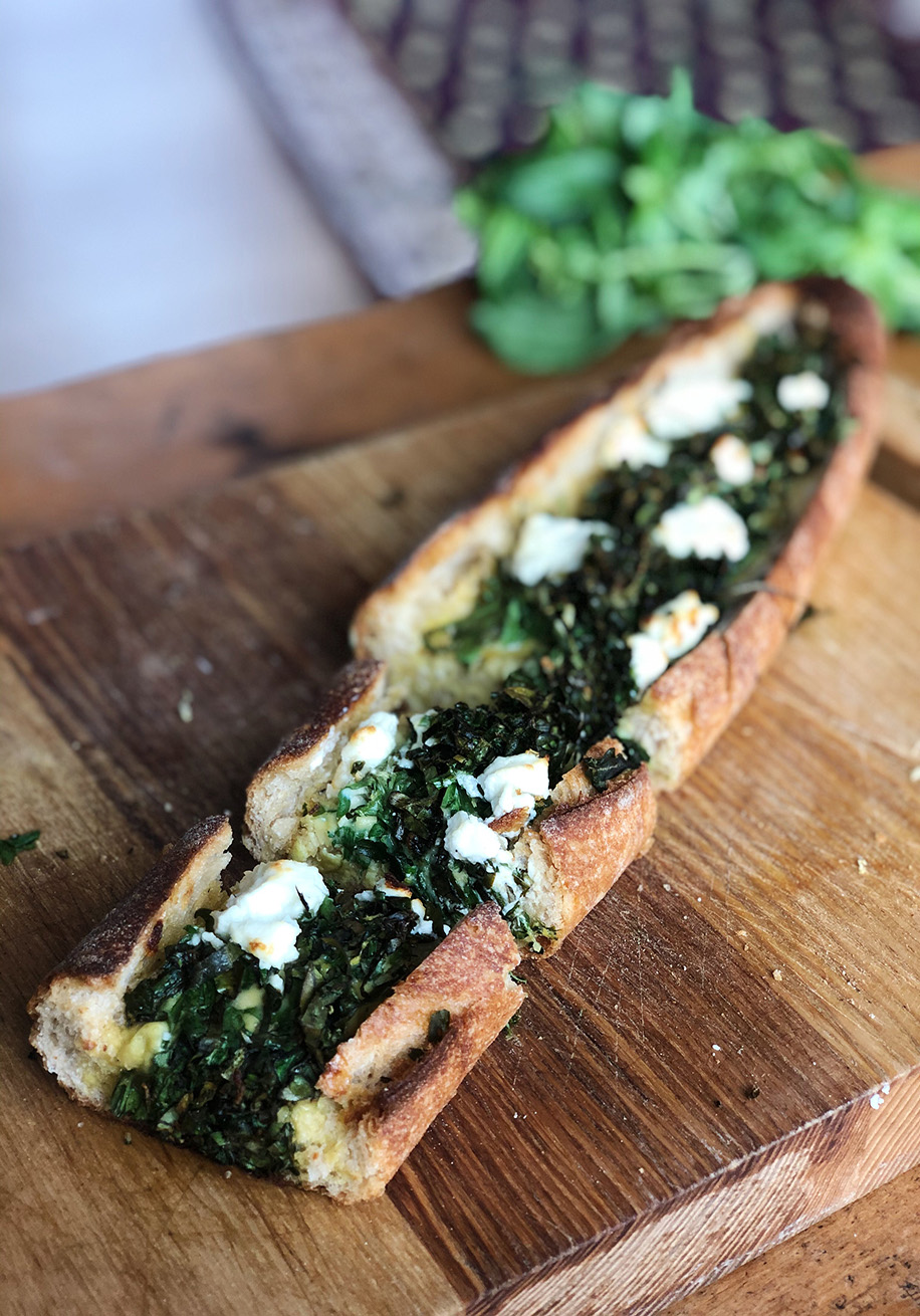 Photo of Herb, Egg & Goat Cheese Baked Bread
