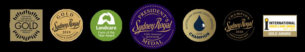 various award medals that meredith dairy has won